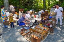 古道具の販売ブース