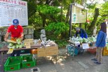 野菜の販売ブース