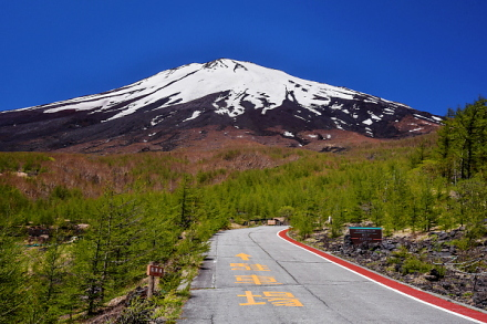 須走口5合目からの富士山
