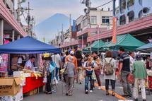 通りから富士山が見えた