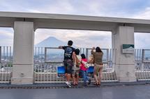富士山の眺望を楽しむ