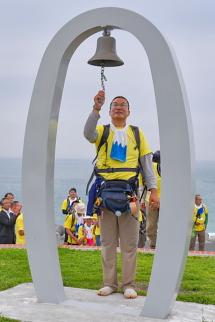 「はじまりの鐘」を鳴らして安全祈願