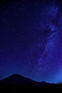 富士山の東側に見える天の川