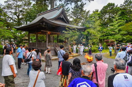 まずは御穂神社でのイベント