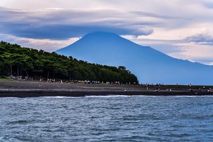 三保松原と富士山の風景