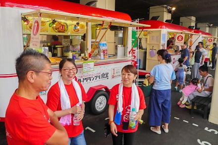 富士つけナポリタンの提供が開始されたB-1グランプリ食堂