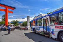 富士登山バスの安全祈願