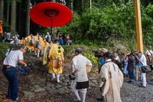 村山登山道の入山儀式