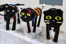 黒猫の造形作品