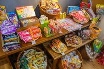 駄菓子の販売