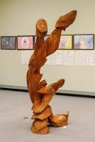 白砂勝敏さんの木彫作品