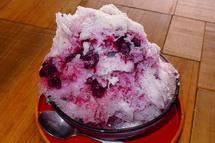 自家製ブルーベリーのかき氷