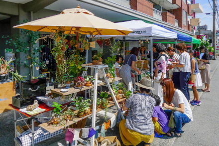 「green cafe」イベント開催のHands Works軒先