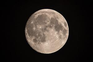姿を現した中秋の名月