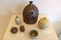 陶芸の作品展示