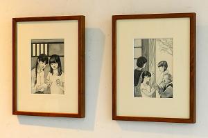 絵画の作品展示