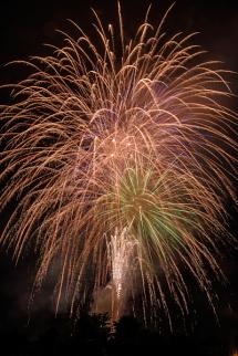 フィナーレを飾る打ち上げ花火