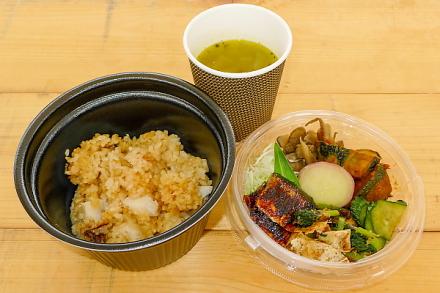 ランチのmoguごはんと野菜スープ
