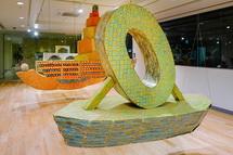 オープン記念「日比野克彦展」の展示風景