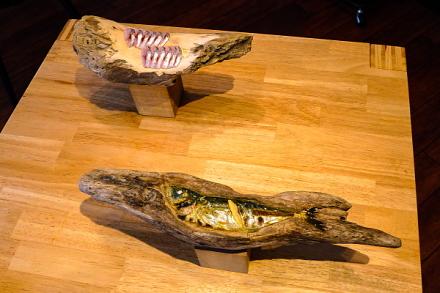 フジノヤマカフェの作品展示