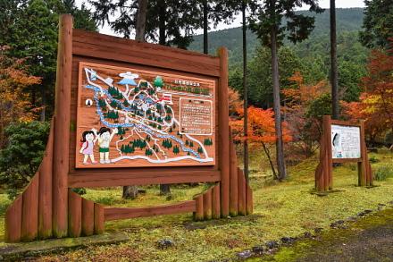 勢子辻にある「ひのきの森」の案内看板