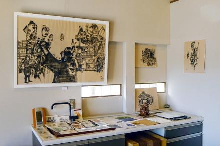 「富士宮まつり秋宮」の時に行われた山車などの風景作品