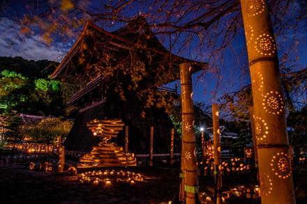 竹かぐや開催の実相寺