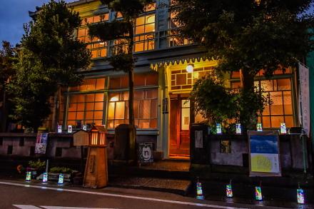 宵祭りが行われた蒲原の旧東海道沿い
