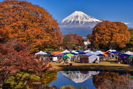 ふじのくにアートクラフトフェア開催の富士市中央公園