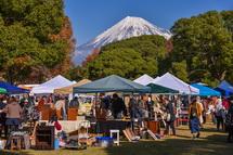 会場から綺麗な富士山を楽しめた(1日目)