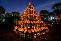 幻想的な竹かぐやの灯り