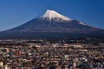 富士市役所屋上「ふじさんてらすMierula」からの富士山