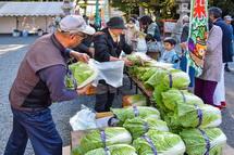 地元野菜の販売