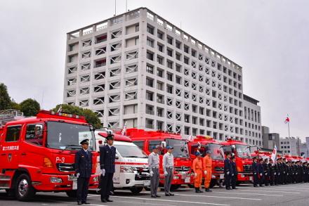 富士市消防出初式 式典