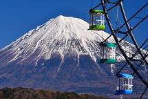 富士山とゴンドラ