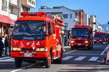 消防パレード風景