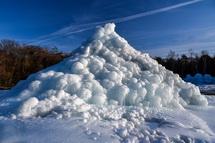 見応えある氷のオブジェ
