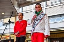 富士市長とボンジョルノ小川さんの挨拶