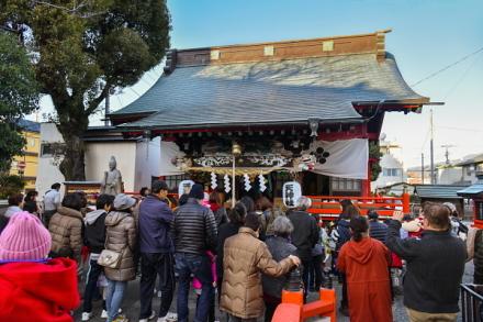 節分祭開催の吉原天神社