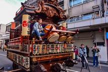 祇園祭の山車とお囃子の風景