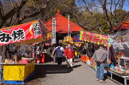 大祭開催の滝川観音妙善寺
