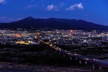 観覧車からの富士市街の夜景
