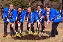 富士市制50周年の記念植樹