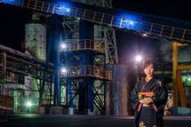 かぐや姫と工場の素敵な風景