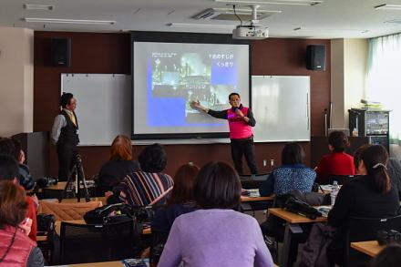 富士市教育プラザでの講義