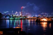 みなと公園展望台からの田子の浦港の夜景