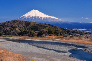 綺麗な富士山が見られた