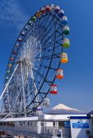観覧車と富士山のコラボ