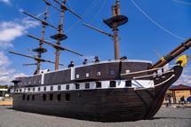 公開されたディアナ号の船体