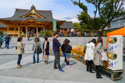 マルシェ開催の富知六所(三日市)浅間神社